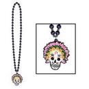 Custom Beads w/ Day Of The Dead Medallion (36