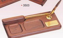 Custom Wood Tray Pen Holder w/ Letter Opener/ Pen (Screened)