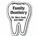 Custom Tooth Notekeeper Magnet - 20 Mil Process Color (1 3/4