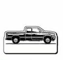 Custom Rectangle Truck Notekeeper Magnet- 35 Mil Process Color (2