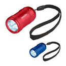 Custom Aluminum Small Stubby LED Flashlight With Strap, 2