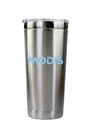 Custom 22 oz. Vacuum Insulated Stainless Steel Tumbler with Acrylic push-on sliding closure lid