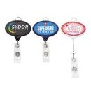 Custom Jumbo Oval Badge Reel w/Lanyard Attachment(Label), 2.13