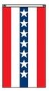 Blank 3'x5' Red/ White/ Blue Striped Flat Fan w/ Star Field