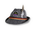 German Alpine Hat w/ Custom Shaped Faux Leather Icon