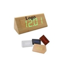 Custom Fashion LED Wooden Triangle Desktop Clock, 4 7/10