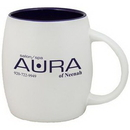 Custom 15 Oz. Puget Mug (Matte white out cobalt in)