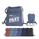 Custom Premium 12 oz pigment dyed cotton canvas drawstring bag, 14 1/2