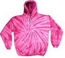 Custom Spider Pink Tye Dye Pullover Hoodie