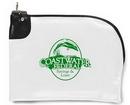 Custom Laminated Nylon Curved Zipper Bank Bag w/ Swing Lock (10.5