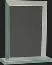 Custom Pristine Jade Glass Collection Rectangular Award L, 8 1/2