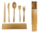 Custom Bamboo Canister Set: Includes 5 Non-Imprinted Utensils, 8.4