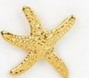 Custom Gold Starfish Stock Cast Pin