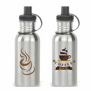 Custom Cutom Logo Water Bottle, 18 oz. Stainless Steel Sports Bottle, Travel Bottle, Coffee Bottle, 8.75