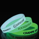 Custom Glow in The Dark Vinyl Wristbands - 1/2