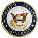 Custom U.S. Congress Seal Pin, 1