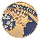 Blank Epoxy Enameled Scholastic Award Pin (Rising Star), 7/8