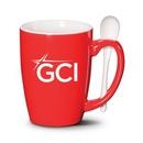 Custom Winfield Mug & Spoon - 16oz Red