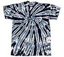 Custom Black Twist Tye Dye T-Shirt