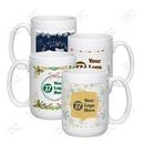 Custom Holiday Design 15 oz. FULL COLOR El Grande Mug, 3 1/4