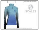 Custom Long Sleeve Ragland Sleeve 1/4 Zip Neck Shirt