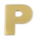 Custom Gold P Pin, 3/4