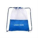 Custom New Mesh Sports Drawstring Bags, 15