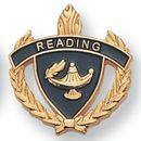 Blank Fully Modeled Epoxy Enameled Scholastic Award Pins (Reading), 7/8