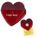 Custom Heart Shaped Magnetic Memo Clip, 2 7/8