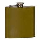 Custom 6oz Stainless Steel Flask - Matte Green (screened)