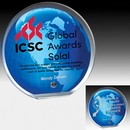 Custom Globe Graphic Award - Laser Engraved (6-1/2