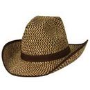 Custom Western Hat w/ Brown Trim & Band