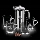 Custom 26 Oz. French Coffee Press W/ 4 Giovanni Mugs