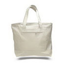 Custom Canvas Zipper Tote with Color Trims, 18