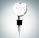 Custom Heart Shape Optical Crystal Wine Stopper, 4