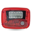 Custom Translucent Pedometer/Step Counter - Red, 2