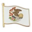 Custom Illinois State Flag Pin
