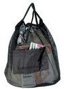Custom Nylon Drawstring Mesh Tote Bag/ Backpack (11 1/2