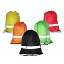 Custom Polyester Reflective Drawstring Backpack, 13.30