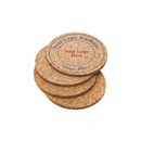 Custom Set Of 4 Round Cork Coaster, 4