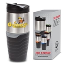 Custom The Sturdy S/S Tumbler - 16oz Grey, 3.25