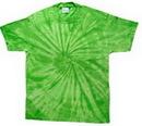 Custom Spider Lime Tye Dye Shirts