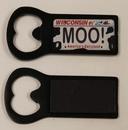 Custom Aluminum Bottle Opener Magnet - Black, 2 3/4