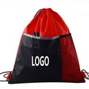 Custom Drawstring Backpack W/Front Mesh Pocket, 13 3/4