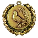 Custom Stock Bird Medal w/ Wreath Edge (1 1/2