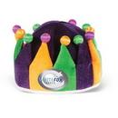 Plush Jester Crown w/ Custom Shaped Heat Transfer