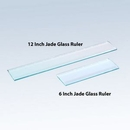 Custom 12 Inch Jade Glass ruler, 12