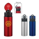 Custom 25 Oz. Aluminum Sports Bottle With Flip-Top Lid, 9 1/2