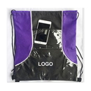 Custom Front Clear Pouch Drawstring Backpack, 13