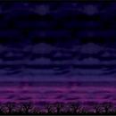 Custom Spooky Sky Backdrop, 4' L x 30' W